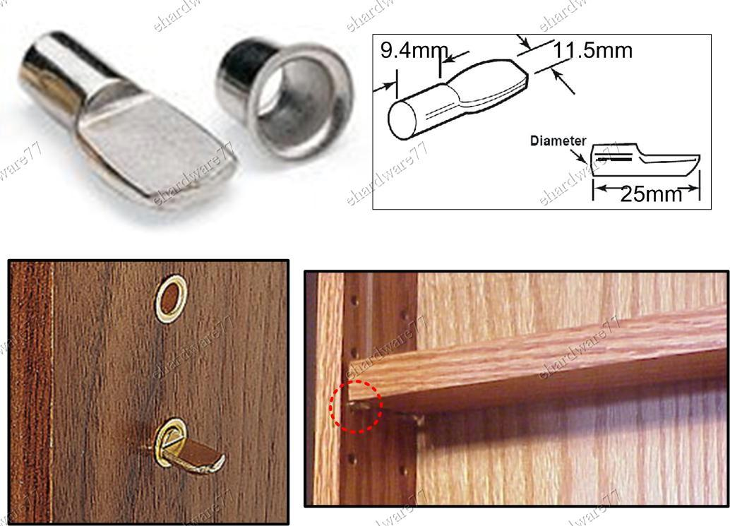 Superbe Cabinet Shelf Support Spoon Pin With Ring (FN7PS)