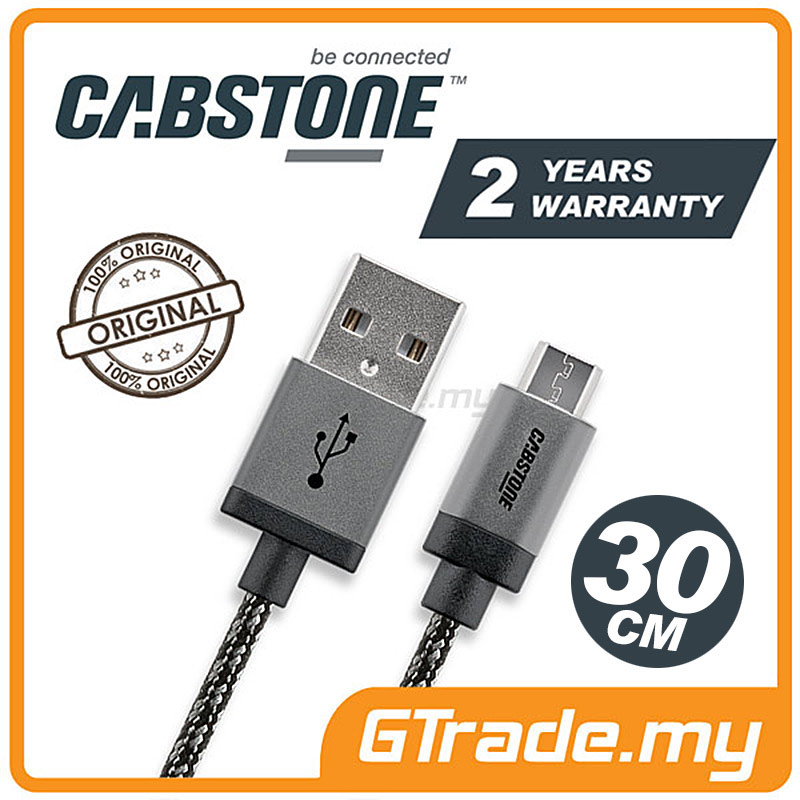 CABSTONE 30CM Metal Charger Micro USB Cable XiaoMi Redmi Note 3 2 1S