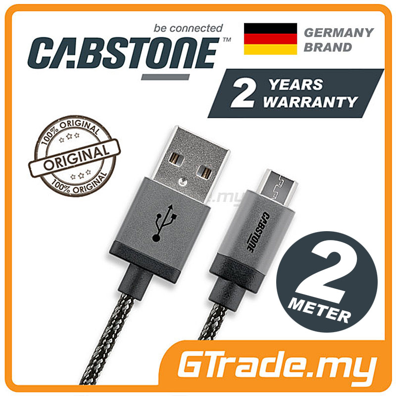 CABSTONE Metal Charger Micro USB 2M Oppo Find 7 N1 N3 R7 Plus R5