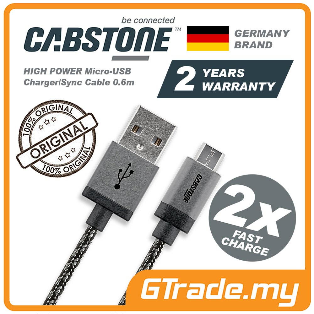 CABSTONE Metal Fast Charge Micro-USB Cable HTC 10 One A9 M9 +Plus M8