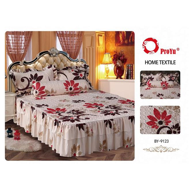 Cadar Patchwork 4in1 Bedding Set with Frills BY-9123