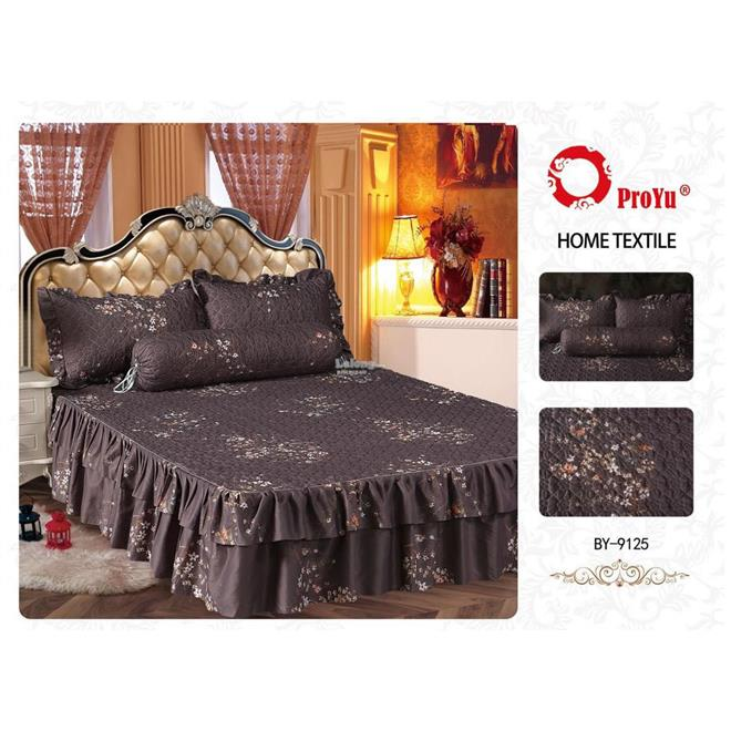 Cadar Patchwork 4in1 Bedding Set with Frills BY-9125