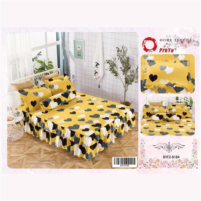 Cadar Patchwork 4in1 Bedding Set with Frills BYFZ-8184