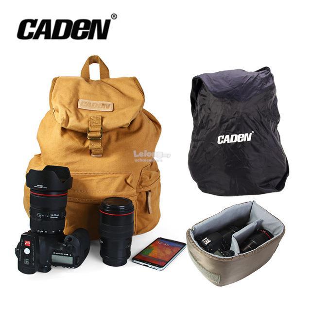 9100829100 Caden F5 Canvas DSLR SLR Camera Shoulder Bag Backpack Rucksack Bag All. ‹ ›