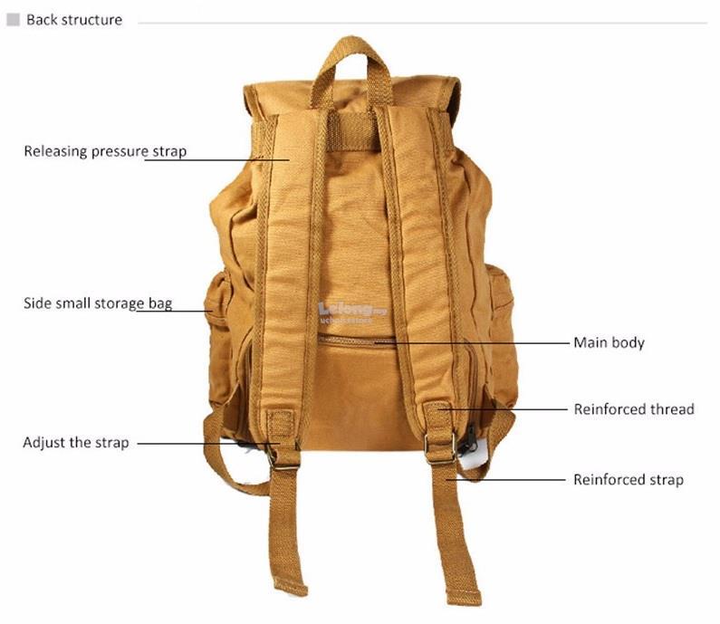 Caden F5 Canvas DSLR SLR Camera Shoulder Bag Backpack Rucksack Bag All