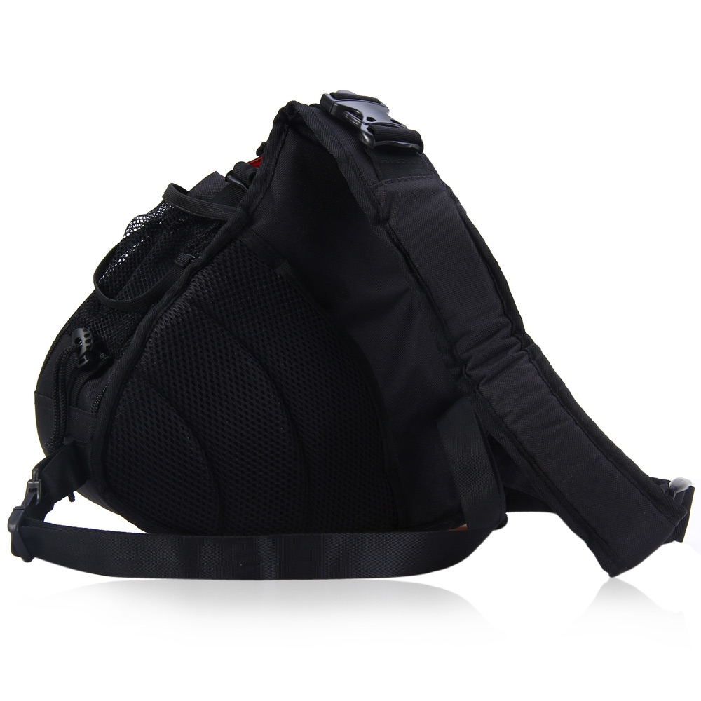 CADEN K1 NYLON TRIANGLE MESSENGER SHOULDER BAG WITH RAIN COVER FOR SON..