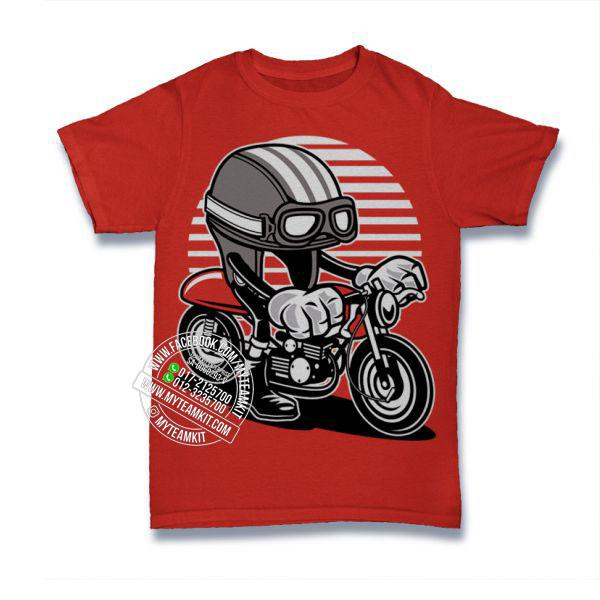 Cafe Racer Helmet T Shirt Custom Tee