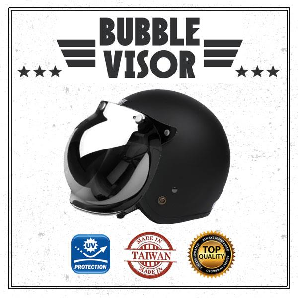 Cafe Racer Vintage Bubble Motorcycle Helmet Visor Shield Screen