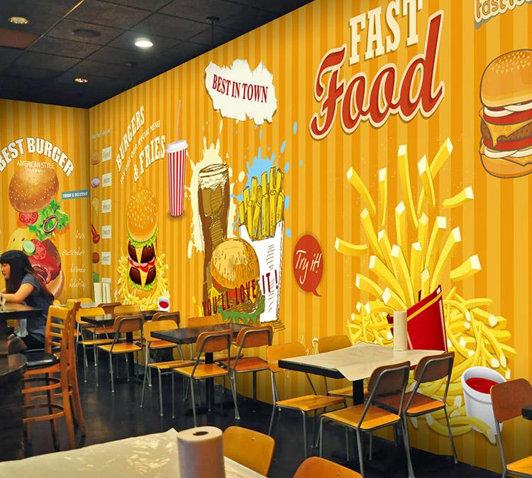 Cafe restaurant mural customise wa end 6 25 2016 3 15 pm for Cafe wall mural
