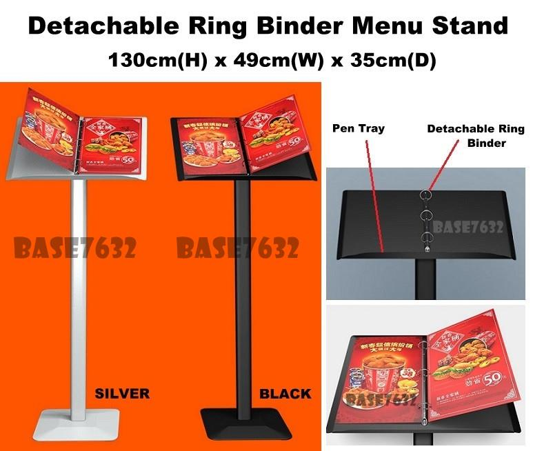Cafe Restaurant Office Menu Display Stand Ring Binder Anti-Slip 2202.1