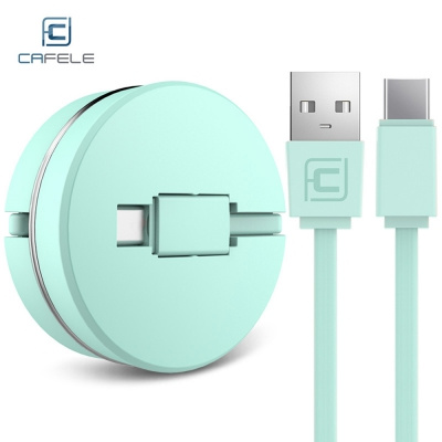 CAFELE Circular Cover Fast Charging Data Cable 1M GREEN