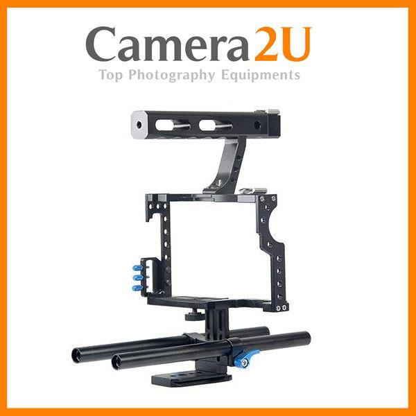 Cage For Sony A7 A7S A7R MK2 II Panasonic GH4 Video Rig Support YC50