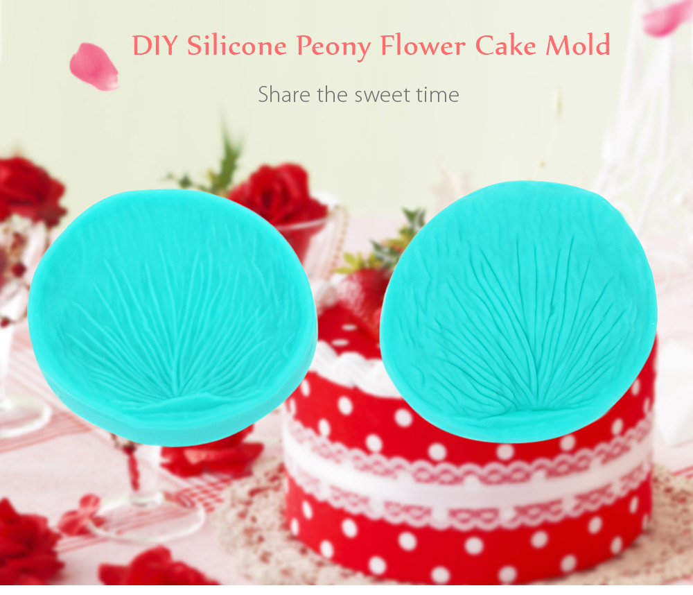 Cake Decorating Supplies - 2 X Peony Flower Mold - 2pcs DIY Silicone P..