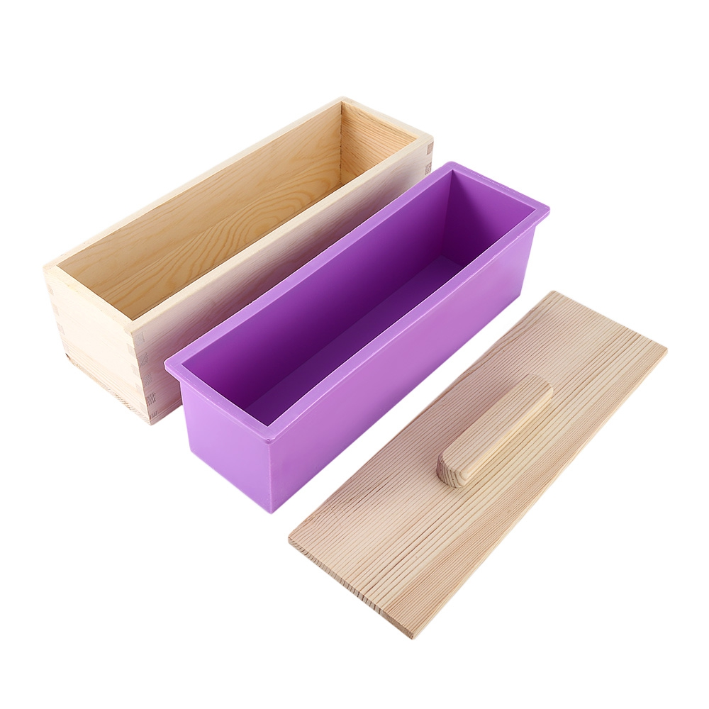 Cake Decorating Supplies - Silicone Soap Mold Wooden Box With Lid - Re..