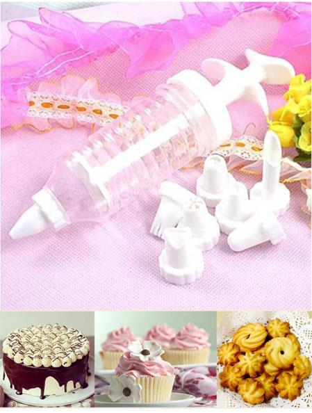 Cake Decorating Tool Biscuits Pastry Tube Sets (8 Heads)
