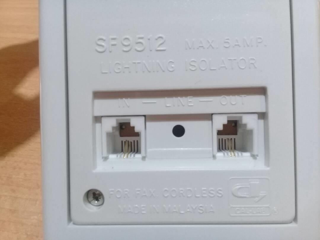 CAL-LAB SF9512-DSL 230V power outlet phone line lightning isolator Pro