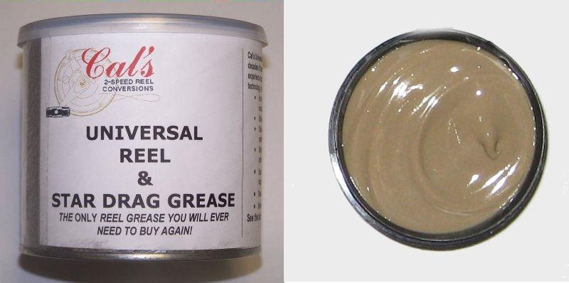 Cal's Universal Grease ,Tan , Grease For Larger Reels 1oz(28 gram)