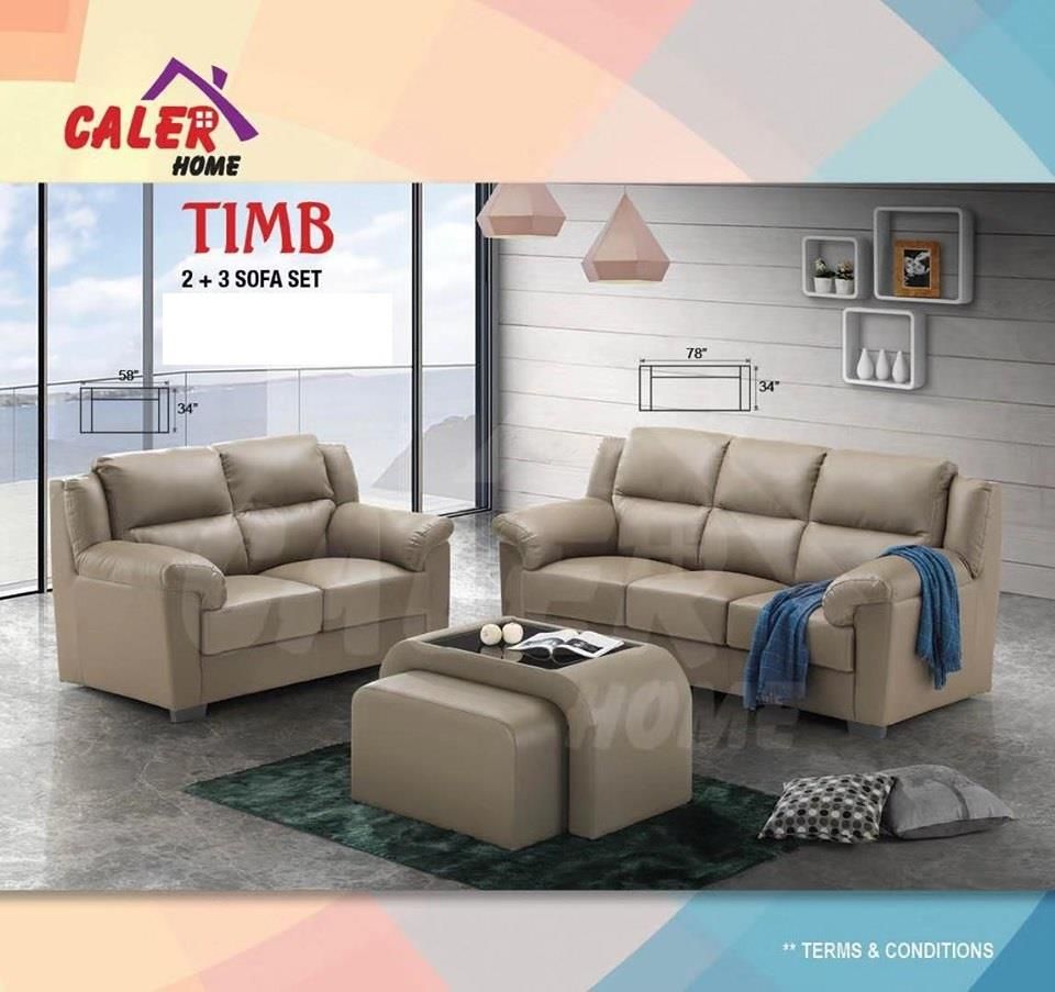 [CALER] SOFA TIMB 2+3 SET