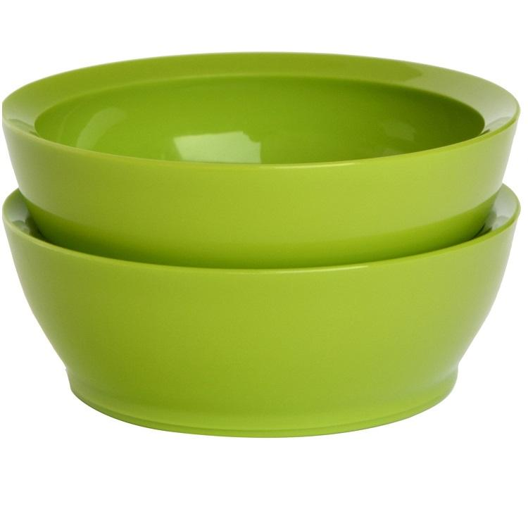 CaliBowl 12oz Non-Spill Bowl Set of 2 - Green