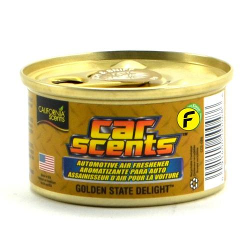 CALIFORNIA SCENTS GOLDEN STATE DELIGHT CAR AIR FRESHENER MADE IN USA -