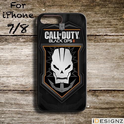 Call of Duty Black Ops II Game Case for iPhone X 8 8+ 7 7+ 6 6+ 5S 5