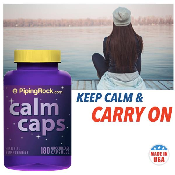 Keep Calm, Relax & Stress Free, Calm Caps (Valerian, Passion Flower)