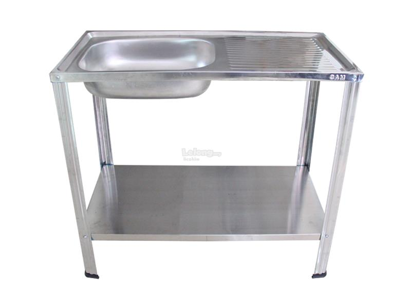 Cam Brand Diy Stainless Steel Single Bowl Kitchen Sink With Stand