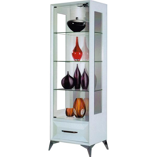 Cameo 2ft Display Cabinet Glass Door White Shop Rack Home Office