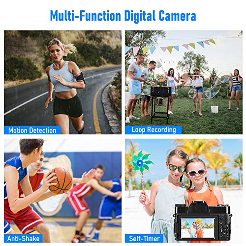 Camera 4K Digital Camera 48MP Vlogging Camera for YouTube 30FPS Vlog Camera 16