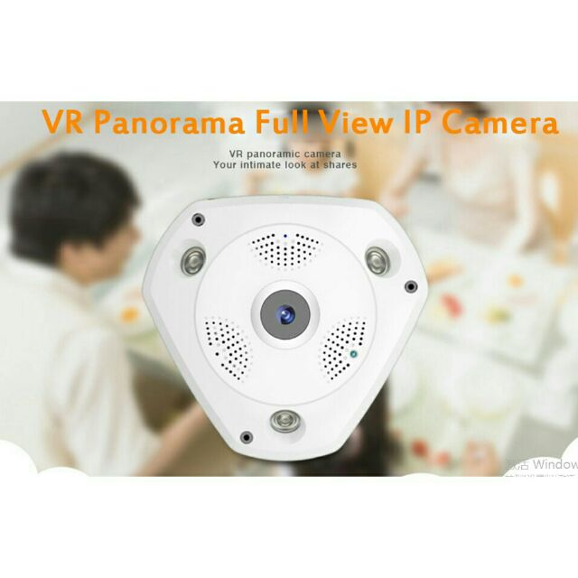 Camera CCTV 1 3MP 360 Degree VR Panorama HD 960P Wireless WIFI IP