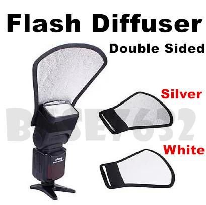 Camera  Shooting Flash Diffuser Board Double Side Reflector