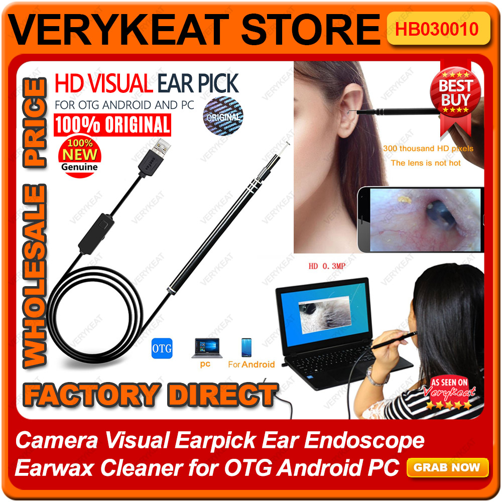 Camera Visual Earpick Ear Endoscope Earwax Cleaner for OTG Android PC