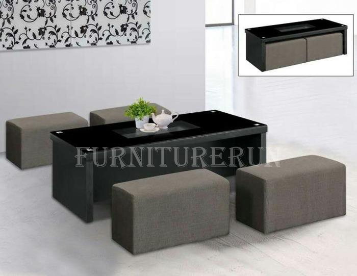 Coffee Table With Stools.Cameron Coffee Table With Stools