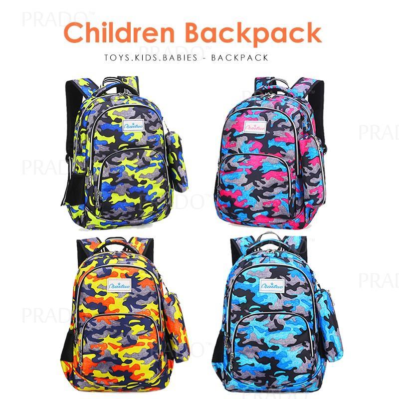 bf05e7141f Camouflage Army Lightweight School Bag Kids Backpack Student Beg Sekol. ‹ ›