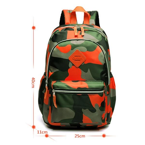 Camouflage Army Nylon Primary Secondary School Bag Kids Teen Backpack de4e2ffb4146e