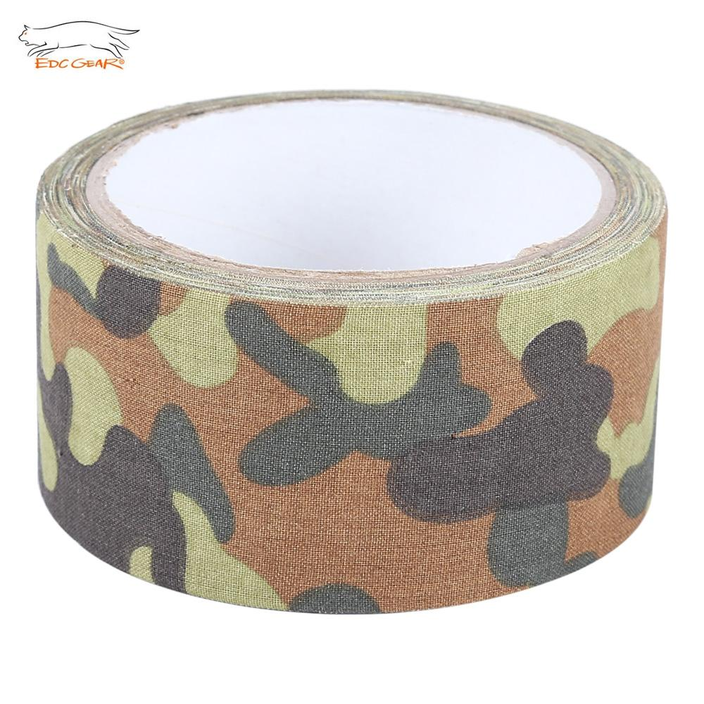 CAMOUFLAGE EDCGEAR Army Adhesive Tape 10M Cotton Fabric for Hunting Gu..