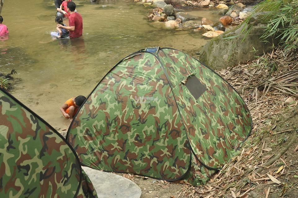 Camouflage Khemah Camo Tent + Kelambu Nyamuk Mosquito Insect Canopy