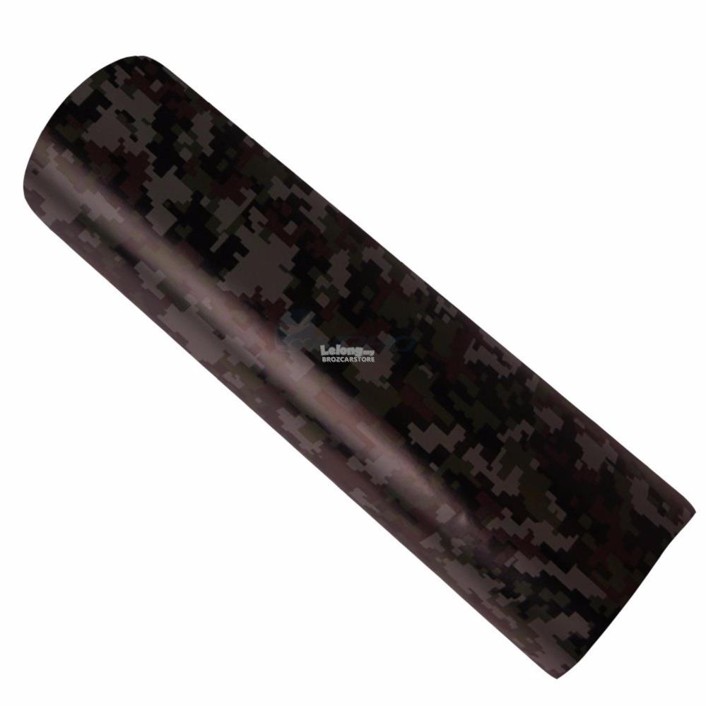 Camouflage Military Woodland Green color car sticker wrap 300cmX60cm