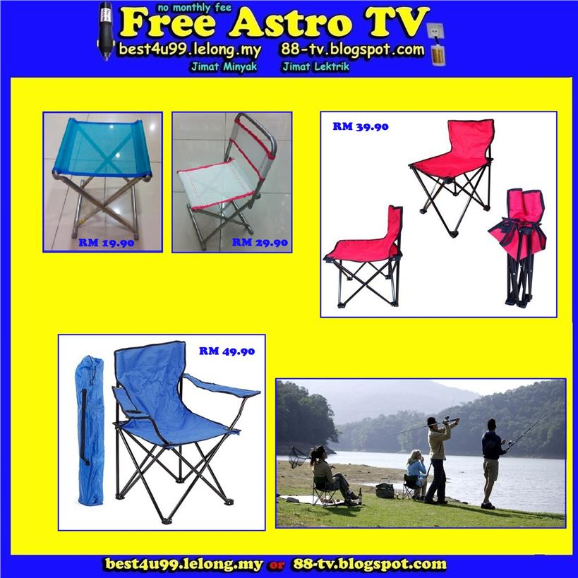 Camping Chair fishing Picnic camp kem travel seaside kerusi pancing pa