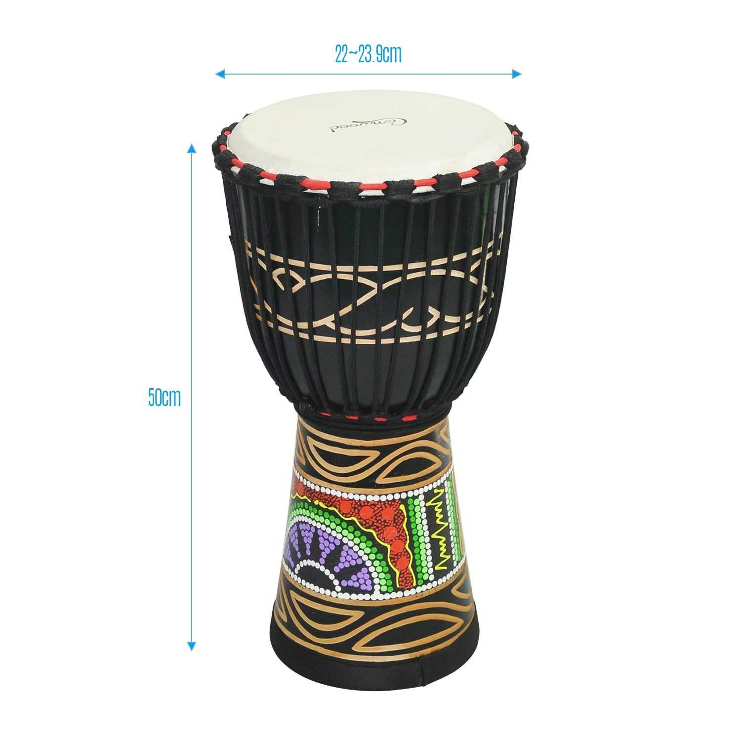 Camwood Wooden African Drum Djembe Bongo Congo Hand Drum Percussion