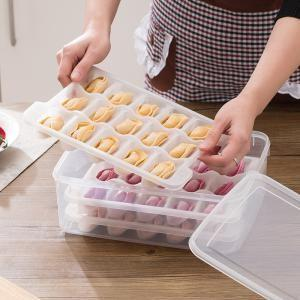 Can Microwave Thaw 3 Layer Transparent Dumpling Tray Set