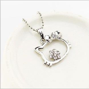 CAndy Girl Hello kitty pendant rhinestone NEcklace set X2705