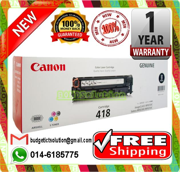 NEW CANON 418 BLACK Toner MF8350Cdn MF8580Cdw (FREE SHIPPING)