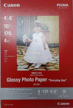 CANON 4R 210GSM GLOSSY PHOTO PAPER 10SHEETS (GP-501)