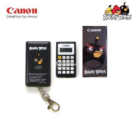 canon ANGRY BIRD Key Chain Slim Lightweight Calculator