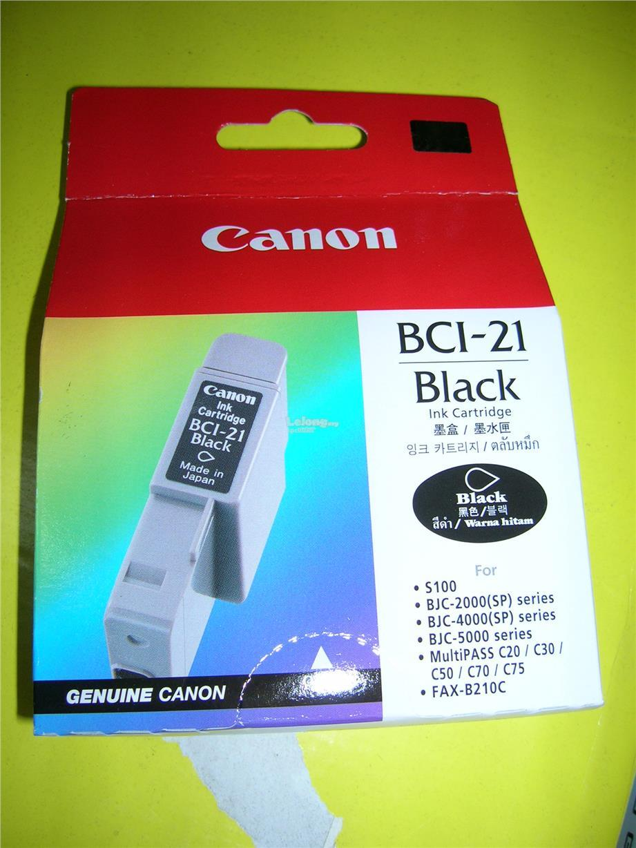 Canon BCI-21 Original Cartridge Black Color
