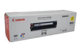Canon Cartridge 316 YELLOW Toner (Genuine) for LBP-5050 LBP-5050N