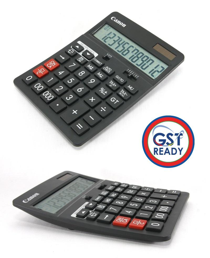 Canon Desktop Calculator 12 Digit Check Back Function Tax Calculation