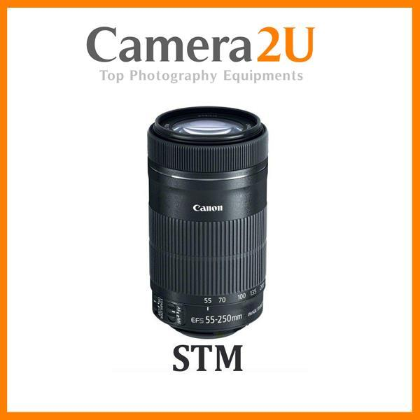 New Canon EF-S 55-250mm f/4-5.6 IS STM Lens (Import)