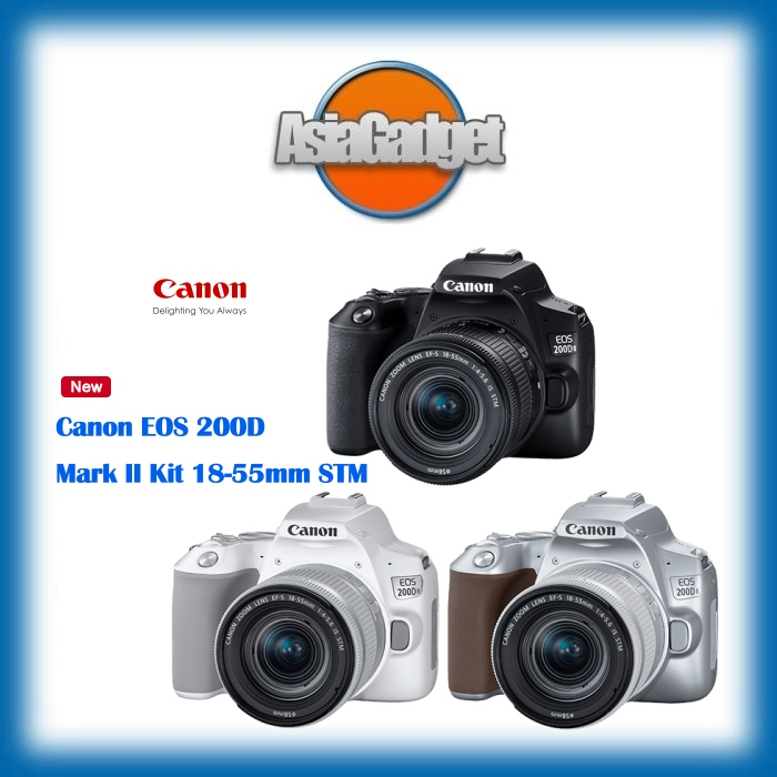 Canon EOS 200D Mark II Kit 18-55mm STM FREE Sandisk Extreme Pro 32Gb